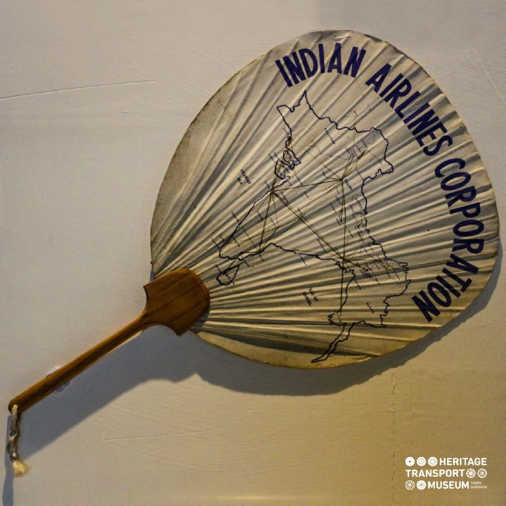 Handheld screen fan carrying the name Indian Airlines Corporation is showing the airline's route map prior to 1947!  #vintagememorabilia #aviation #vintagecollection #indianairlines #airways #transportmuseum #incredibleindia