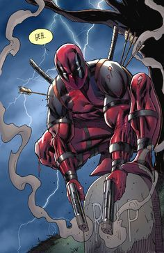Rob Liefeld, creator of Deadpool, hired me to color this piece for him in just a few hours. This was for the 'Deadpool funeral' event and now he sells it as a print I think. Was a great honor to ge...