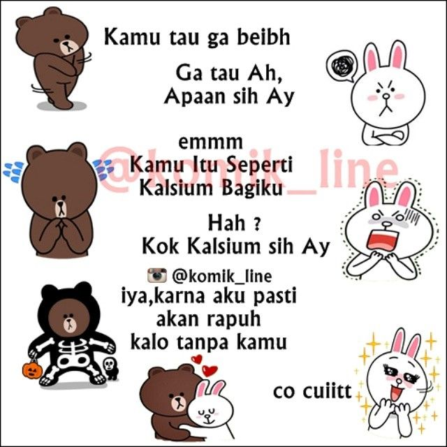 "@komik_line's photo: ""Rapuh tanpamu ♥ #komik_line #gombalanline"""