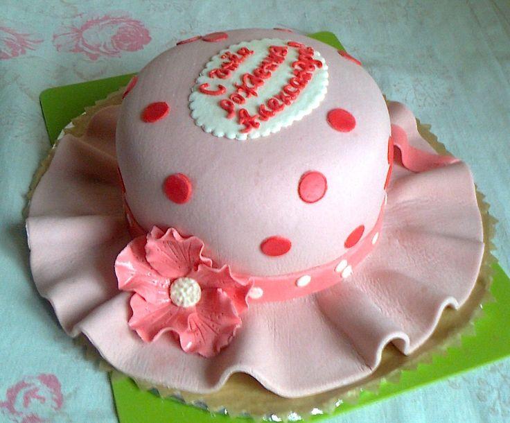 """Торт """"Шляпа"""" Украшен мастикой.  Состав: бисквит белый+ шоколадный+ сметанный крем. Вес 3 кг Цена: 3300 руб."""