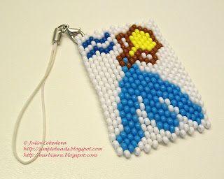 Kulcstartó bead - Vízöntő
