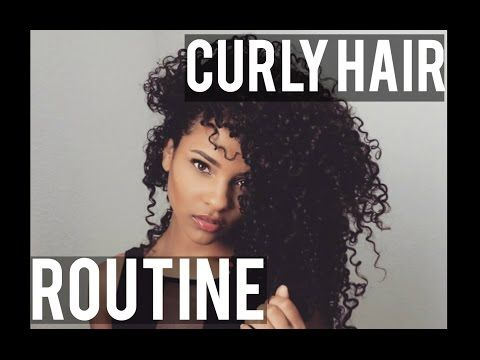 My Curly Hair Routine - YouTube