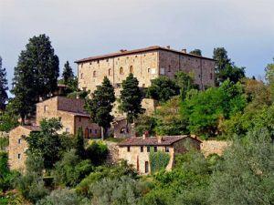 Het kasteel van Bibbione in de Chianti streek