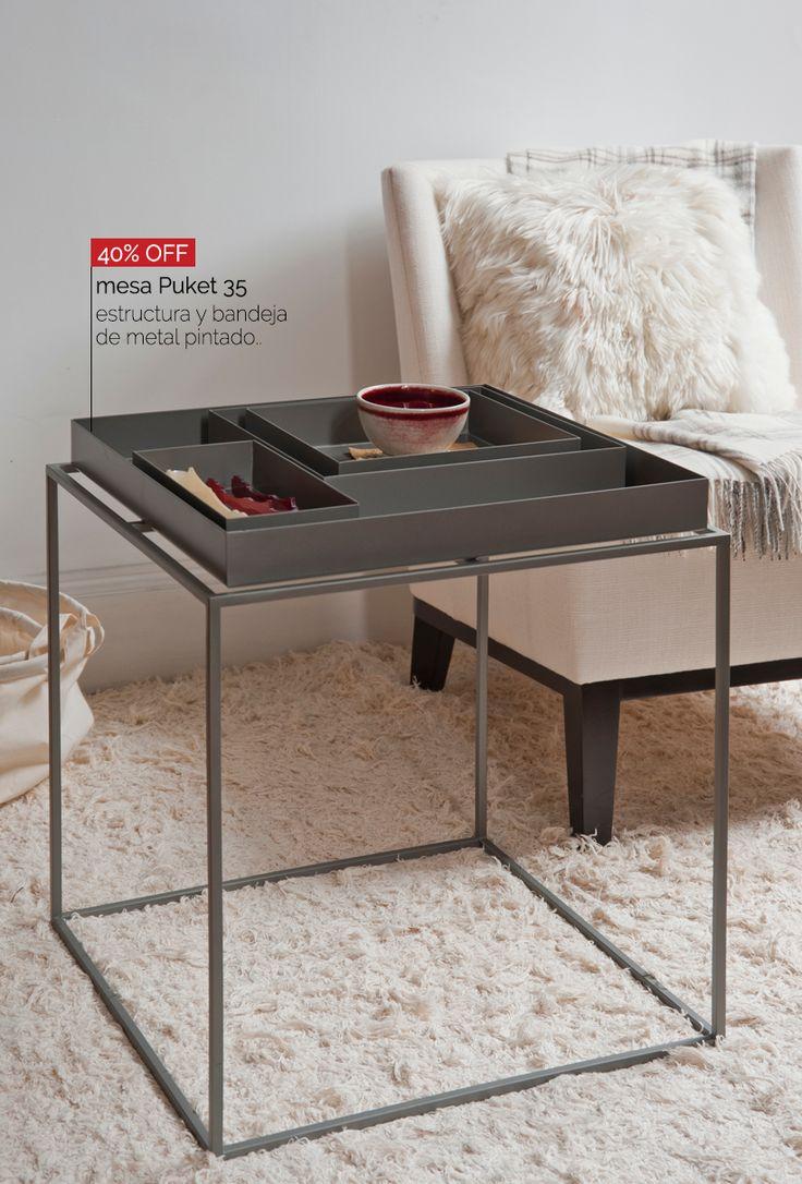 mesa Puket - 30% OFF disponible en varios colores y medidas.