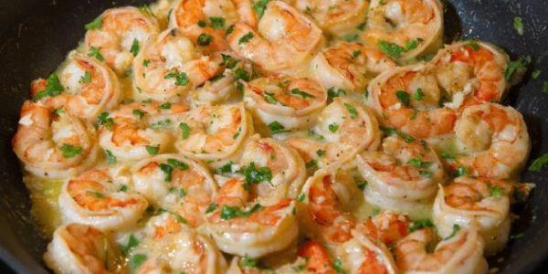 Air Fryer Shrimp Scampi