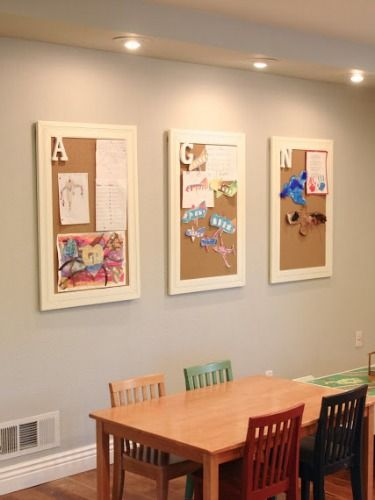 Great idea for Grandparents to display their art!!!  Inventive Ways to Display Your Kids' Art