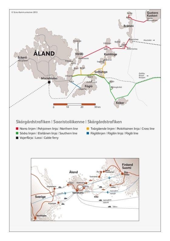Archipelago travel map | Ålandstrafiken