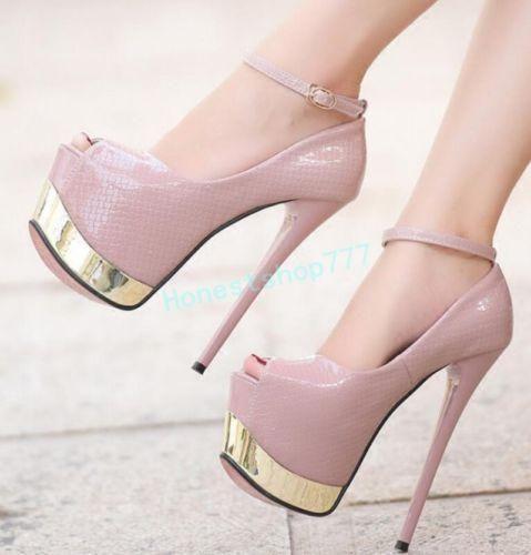 Novo Super Salto Alto Feminino Peep Toe Com Salto Agulha de sapatos de plataforma sandálias Balada