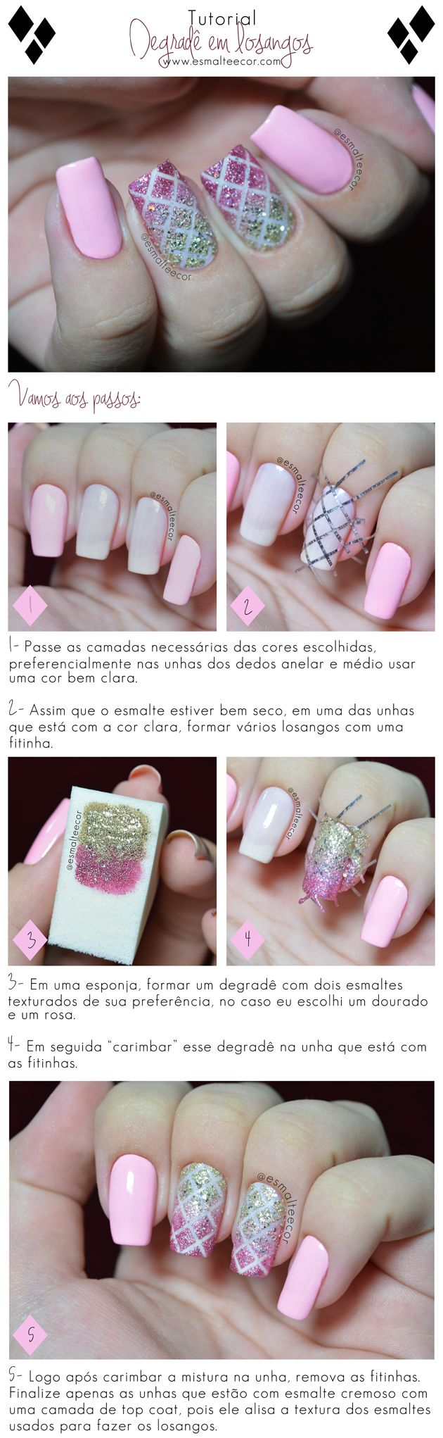 Unhas Decoradas Degradê