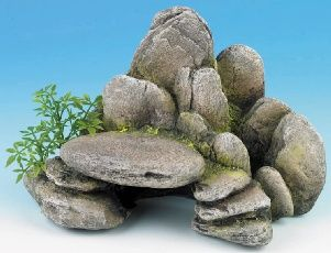 Rocky Ledge Aquarium Ornament - I can see a waterfall for a fairy garden pond/stream, or even a chair