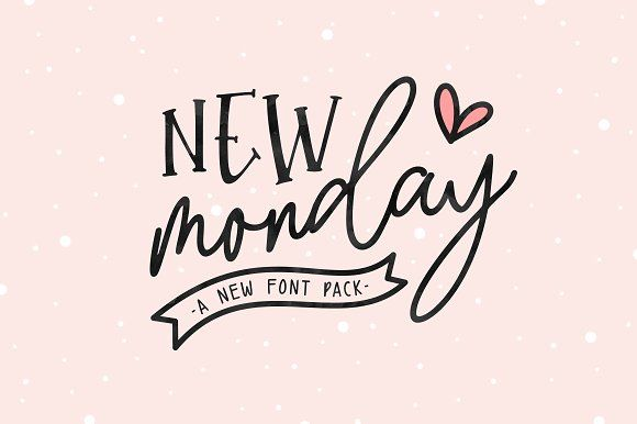 New Monday | Font Pack @creativework247