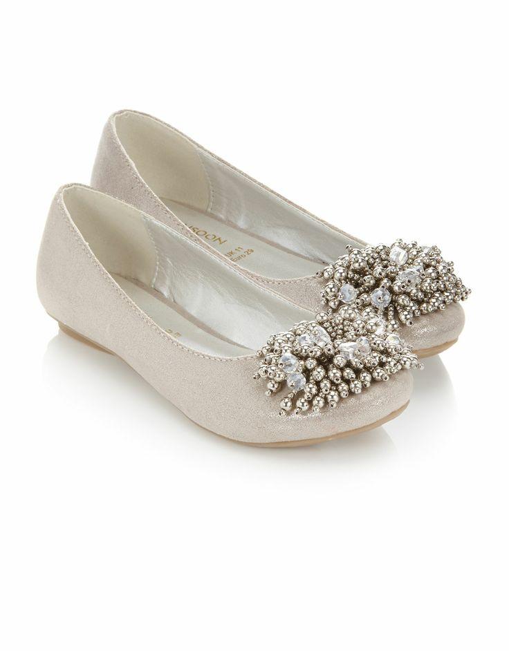 Buy Girls Clothing - Beaded Cluster Shimmer Ballerina (Silver)   Monsoon