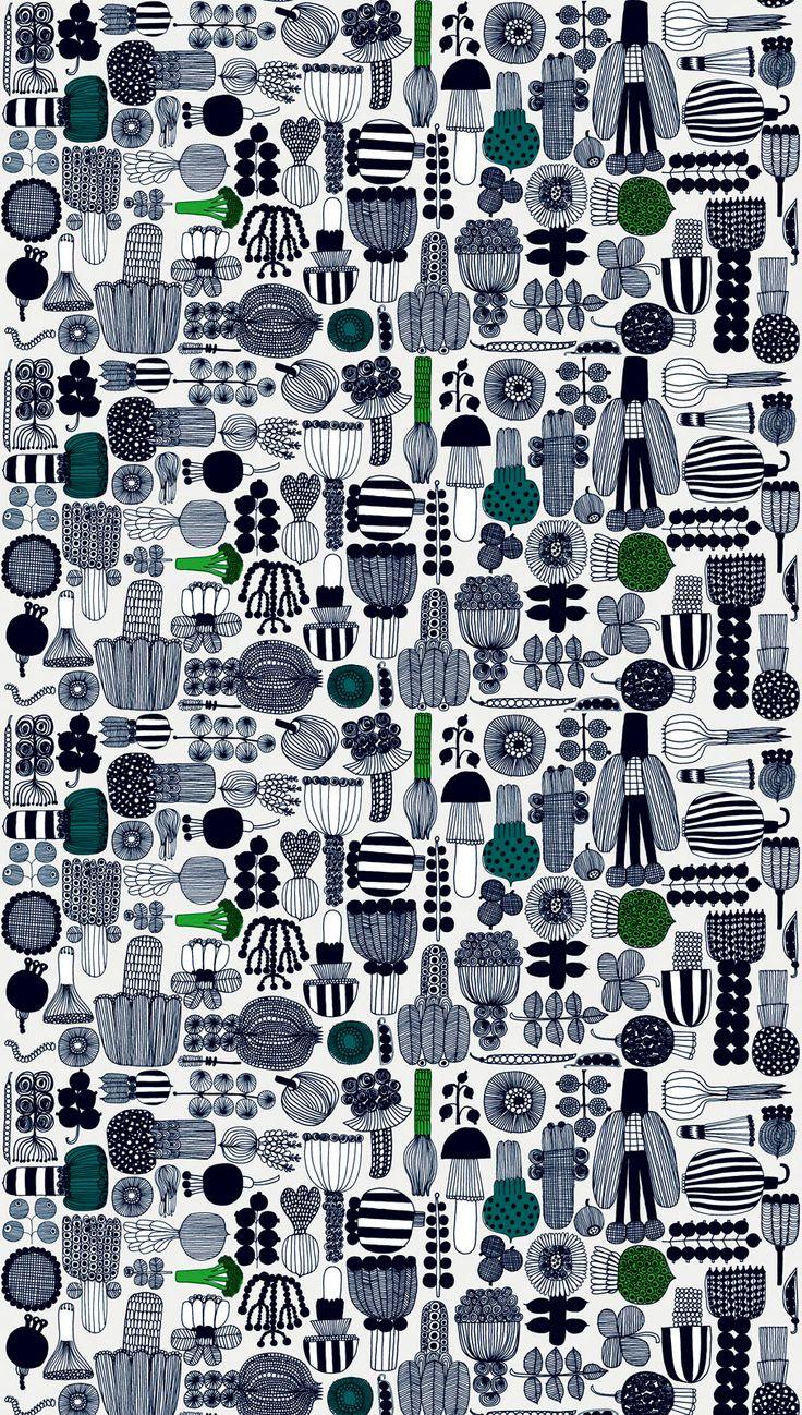 Marimekko Puutarhurin parhaat cotton fabric.