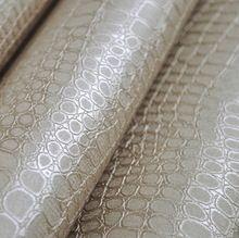 Imitación de piel de cocodrilo patrón de cuero moderno papel Tapiz para la pared textura brillo de Plata Blanca Revestimientos de paredes de papel de Pared de vinilo de lujo(China (Mainland))
