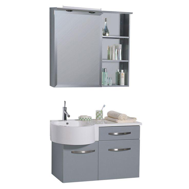 Setul corp lavoar și etajera cu oglinda Lindo dispune de spații depozitare generoase pentru o baie organizată și aerisită. Mobilierul este realizat din MDF acoperit cu folie PVC, iar lavoarul din compozit. Sertarele și ușile sunt prevăzute cu balamale și sistem de glisare cu închidere soft. Etajera este dotata cu polițe din sticlă și sistem de iluminat cu halogen și priză. #mobexpert #mobilier #baie