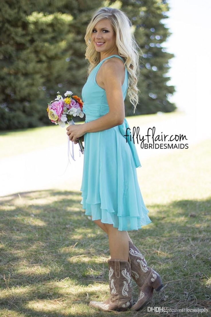 25 best turquoise bridesmaids ideas on pinterest turquoise cheap 2017 sexy short country style turquoise bridesmaid dresses crew neck ruffled chiffon mini dresses beach wedding party dresses as low as 7689 ombrellifo Images
