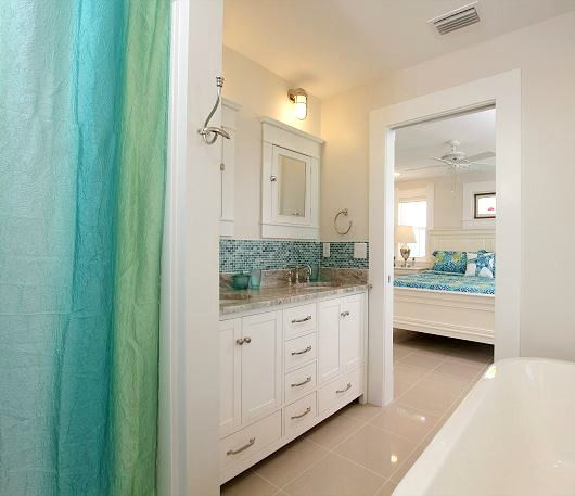 Blue And Green Coastal Shower Curtain... Http://www.completely. Beach House  ...