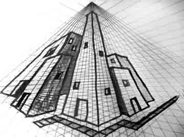 Perspective Drawings Of Buildings top 25+ best three point perspective ideas on pinterest | linear