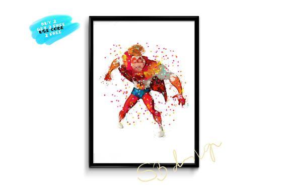 Megamind Watercolor Poster Hal Stewart Superhero Poster