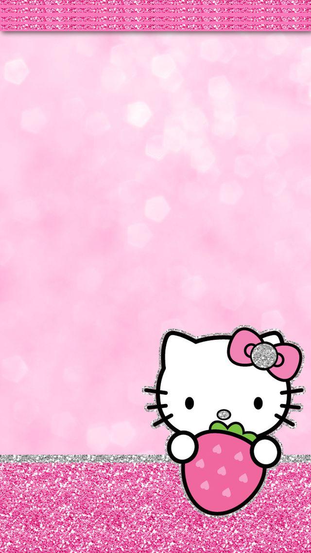 iGlamdroid: Hello Kitty Strawberry Wallpaper