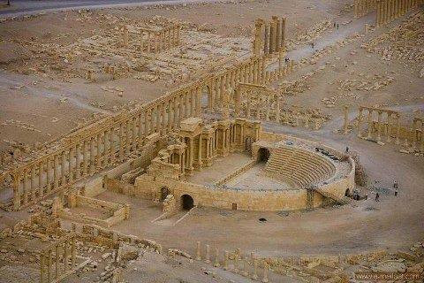 Palmyra, Syria--One of my favorite places I visited in Syria! :)/// Sorry. Get ready to kiss it goodbye. ISIS is destroying it, little, by, little. Yeah, not only has Obama allowed thousands of people too die in that region. He's also sat on his golf cart seat and allow priceless antiquities to be destroyed. Freakin dumb ass.