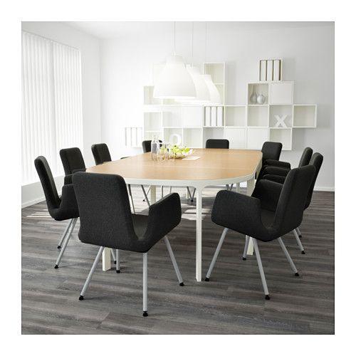 BEKANT 会議用テーブル - バーチ材突き板/ホワイト - IKEA