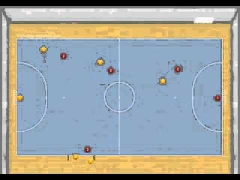 Jugada de aprovechamiento de zona de cambios: Jugada de Gitana desde saque de meta - Ejercicios De Fútbol Sala