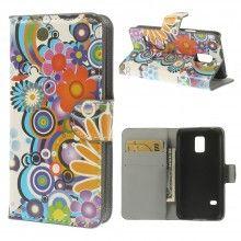 Forro Libro Samsung Galaxy S5 mini Design Naturaleza Flores 4 $ 20.300,00