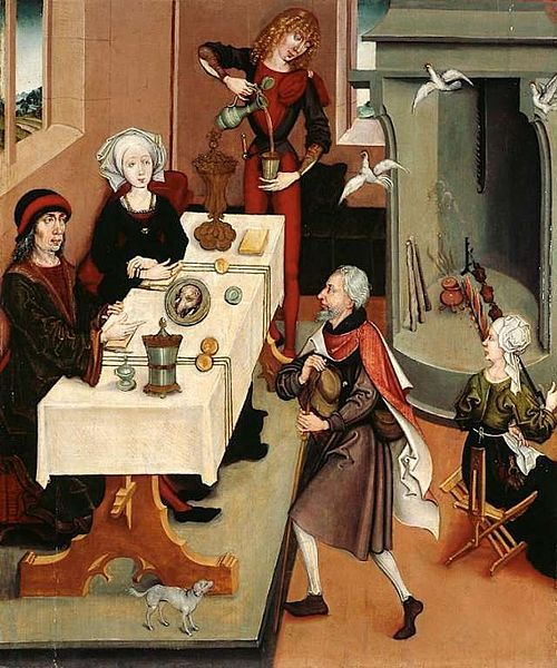 Miraculous resurrection of the roast chickens, 1470
