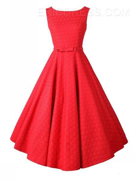 Ericdress Bowknot Sleeveless Plain Casual Dress  Casual Dresses