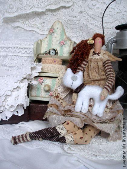 Кларис и Базиль - коричневый,уют,тепло,любимец,кукла ручной работы,тильда