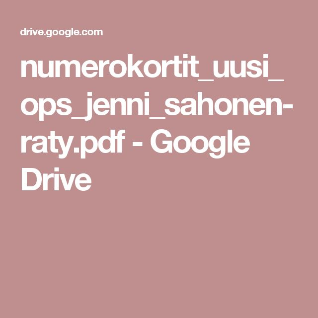numerokortit_uusi_ops_jenni_sahonen-raty.pdf - Google Drive