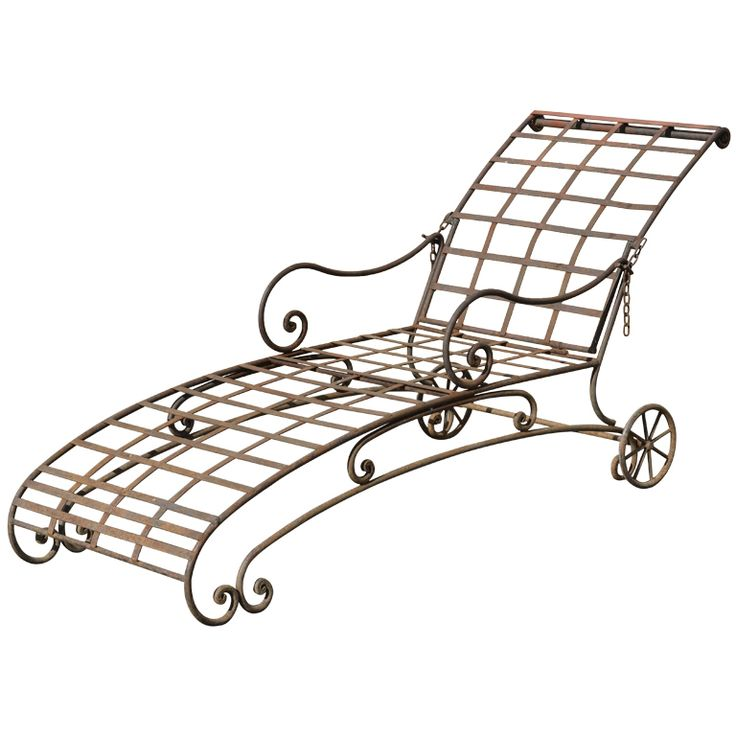 42 best chaise lounging w vintage wrought iron images on. Black Bedroom Furniture Sets. Home Design Ideas
