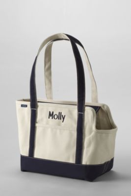 Canvas Tote Pet Carrier from Lands' End : LE needs to add this to their European market...  Want this!!