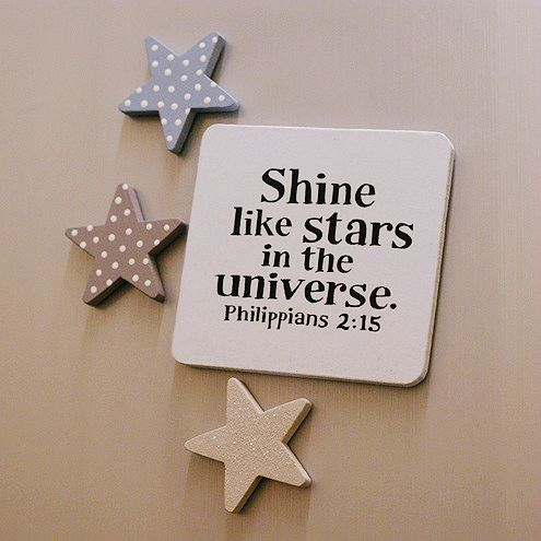 Shine like Stars magnets. Sunday School craft. Scripture Craft. Christian Craft. Philipians 2:15.