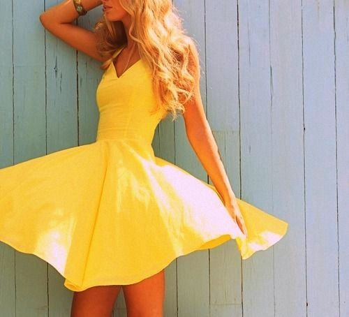 : Summer Dresses, Summer Dress, Fashion, Style, Color, Yellow Dress