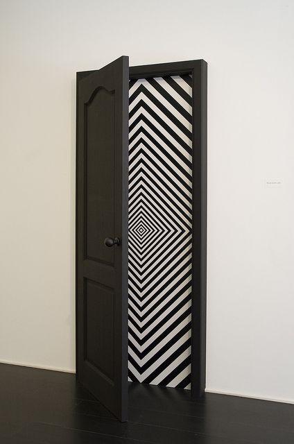 Door Art Installation : Op art multiple personality disorder http