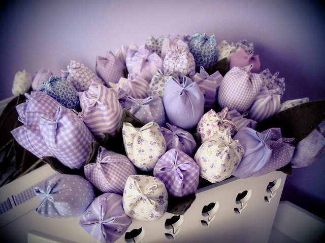 Fabric Tulips by Lonely in Gorgeous, via Flickr
