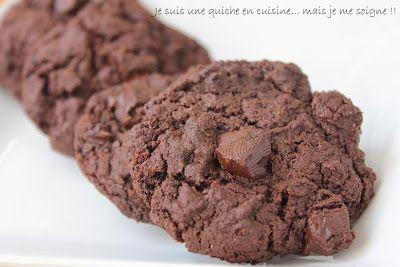 Je suis une quiche en cuisine... mais je me soigne !!: Cookies tout chocolat et huile d'olive (oui oui vous avez bien lu !!)