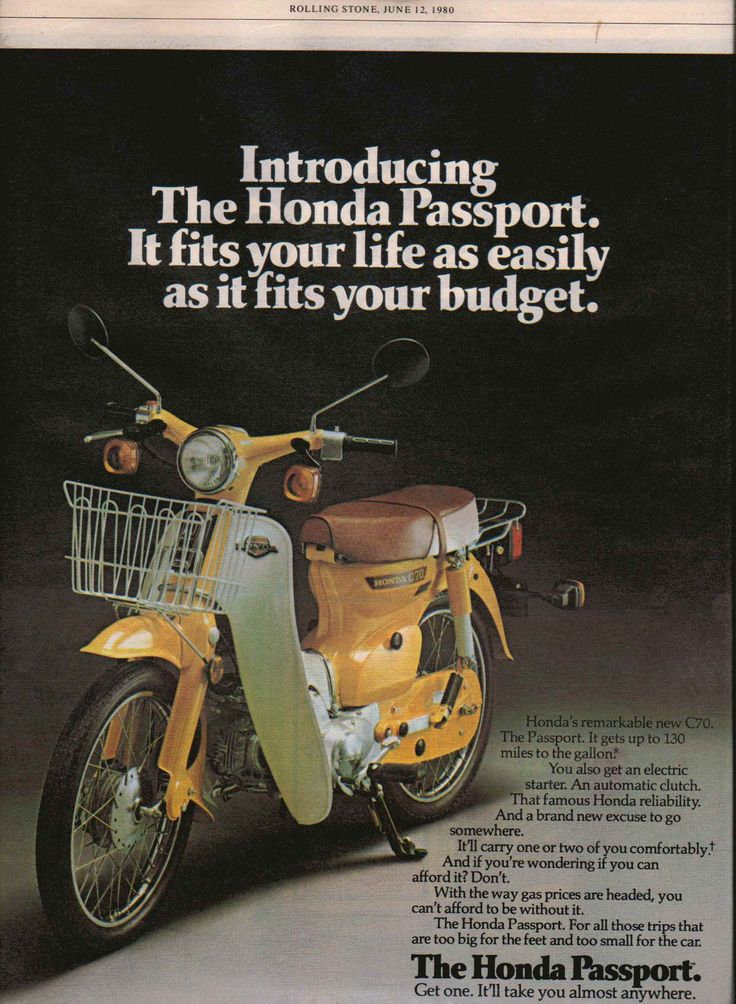 Honda C 70 Passport, USA 1980.