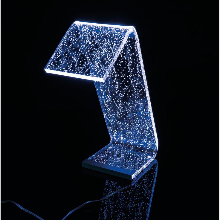 Lampada da Tavolo a Led con RGB 22x17x34h cm 0,25 w - 24 Volt C-LED in Plexi con 4 decori variabili | Vesta | Stilcasa.Net: lampade a led