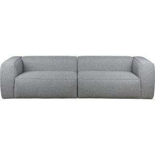 Woood Bank Bean 4-zits polyester  grijs melange