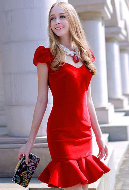 Morpheus Boutique  - Red Diamond Fashion Led Tail Hem Dress, $189.99 (http://www.morpheusboutique.com/new-arrivals/red-diamond-fashion-led-tail-hem-dress/)