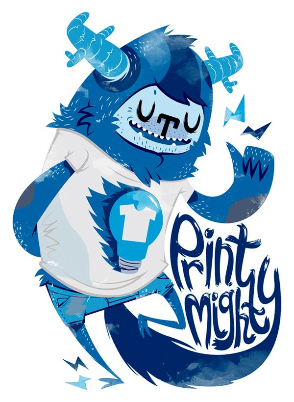 Print Mighty T-Shirt on the Behance Network
