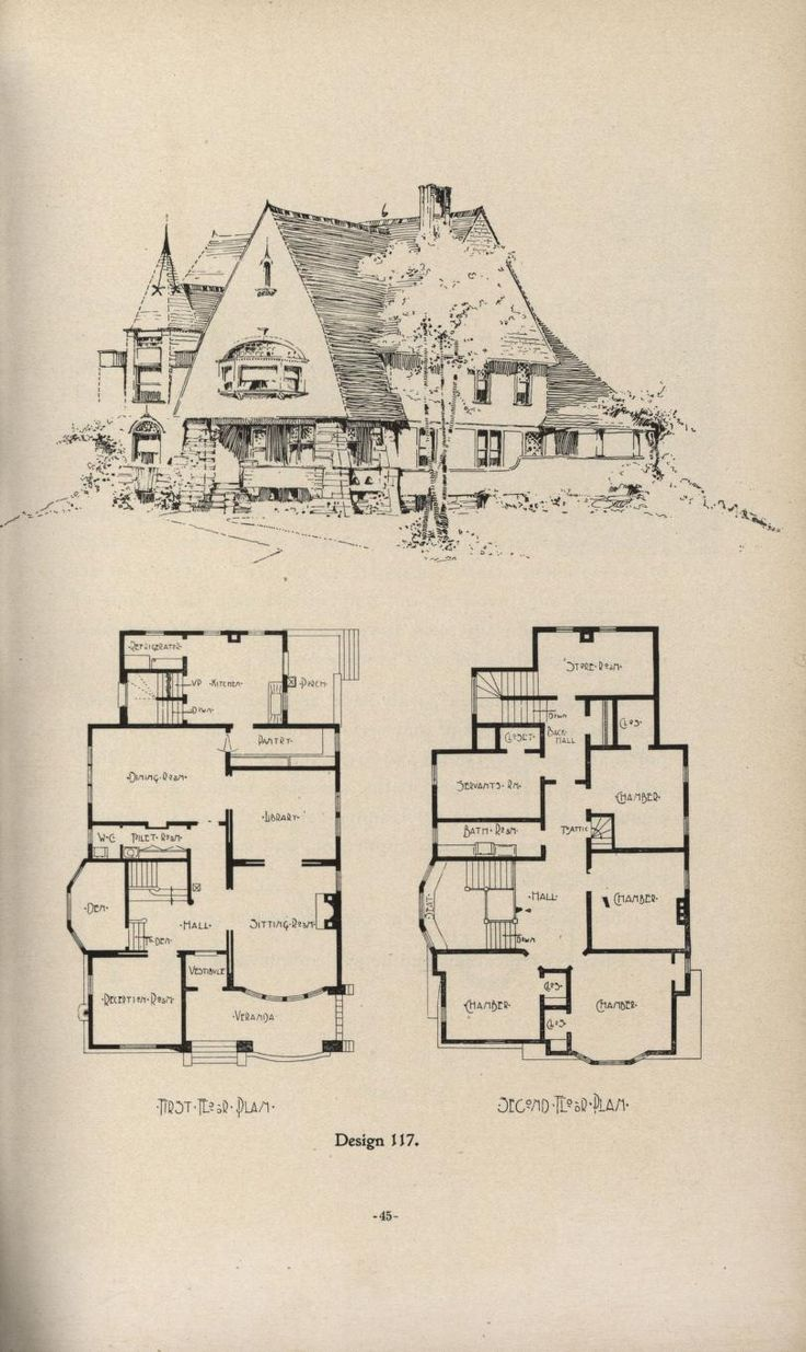 Rush's Dwellings, c. 1900  From the Association for Preservation Technology (APT) - Building Technology Heritage Library, an online archive of period architectural trade catalogs. It contains hundreds of old house plan catalogs. Select your era and flip through the pages.