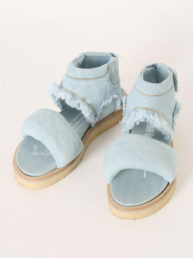 Bernhard Willhelm denim sandals SS2016 @GuyaFirenze