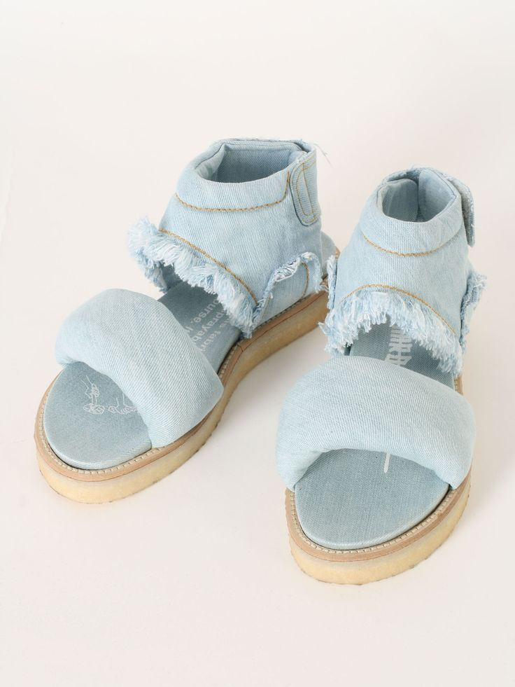 Bernhard Willhelm denim sandals SS2016 @GuyaFirenze