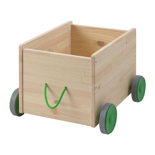 FLISAT Schowek na zabawki na kółkach - -