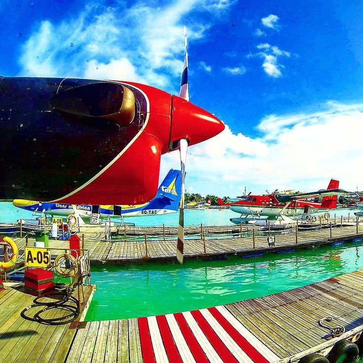 #Water part of Ibrahim Nasir #International #airport  #Maldives #Male .  #maldivesislands #traveling #tourism #travel #flying #plane #hydroplane #blueskies #engine #island #photography #gopro #goprophotography #goprooftheday #red #blue #green #мальдивы #мале #аэропорт #гидроплан #путешествие #туризм #путешествия by akulinindmitry