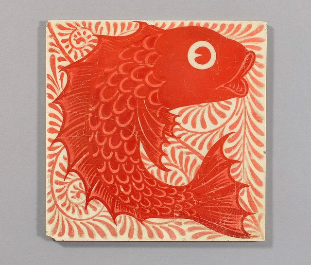 Fish tile by William De Morgan